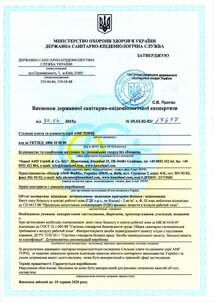 AMF Topiq санітарно – епідеміологічна експертиза